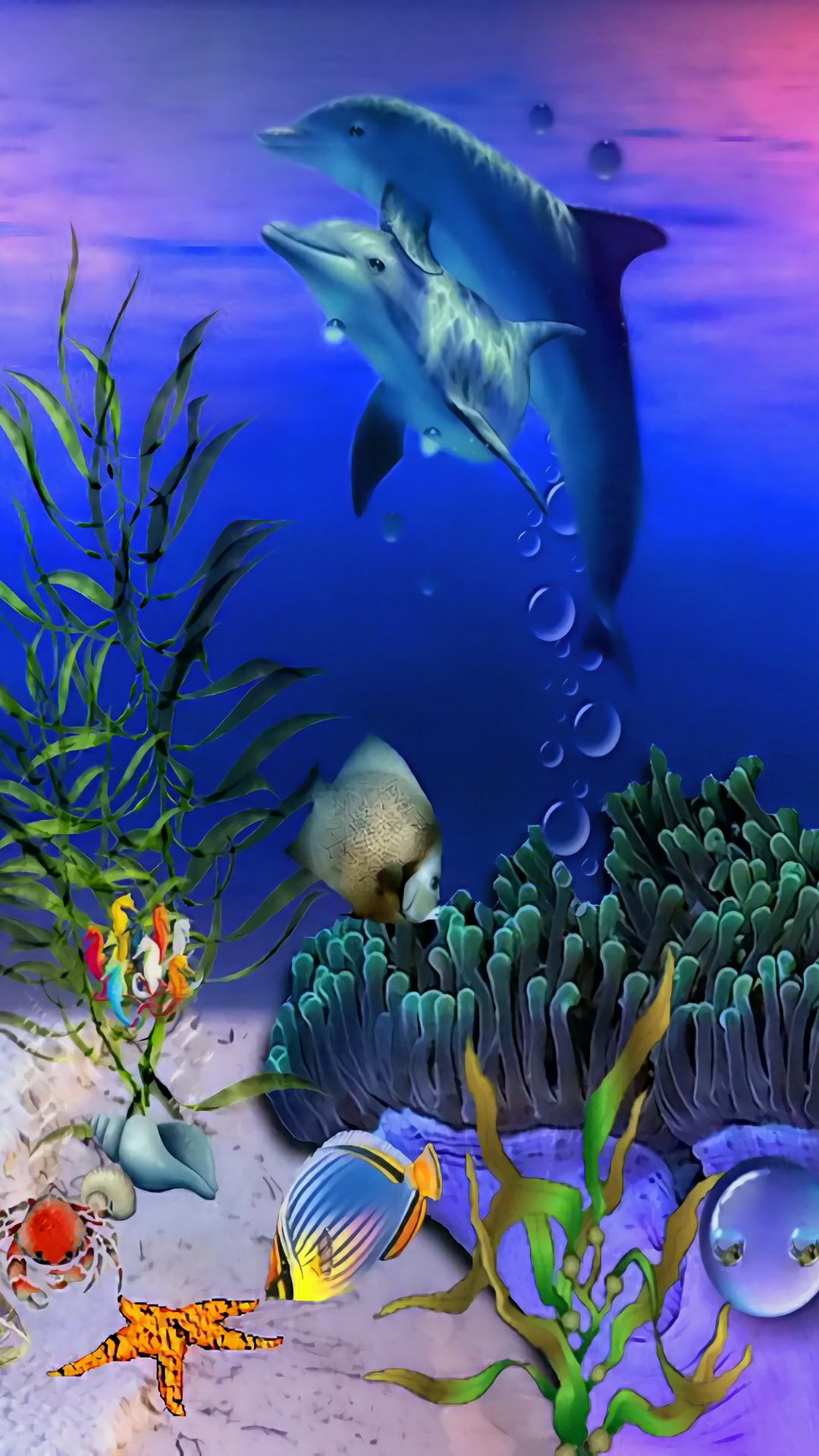 Momma Dolphin Amp Her Baby In The Deep Sea Dolphin S And