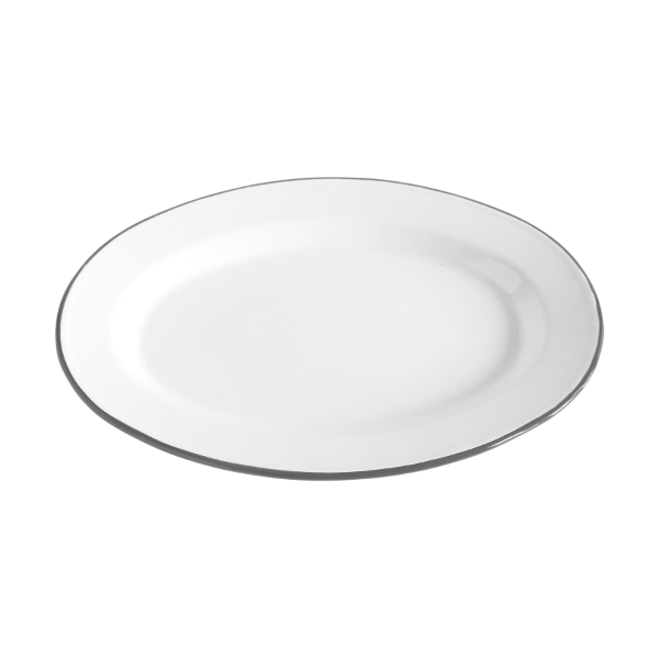 Our enamel plates are perfect for outdoor entertaining. The oblong shape is great for steak and a side. Vintage enamelware by Crow Canyon Home.  sc 1 st  Pinterest & Oval Dinner Plate 12-Inch Set of 2 White | more colors | Crows