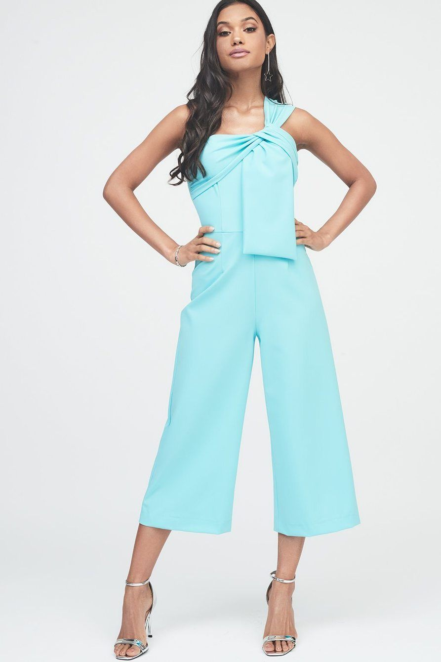 bc8bfc675a91 Twisted One Shoulder Wide Leg Culotte Jumpsuit – Lavish Alice ...