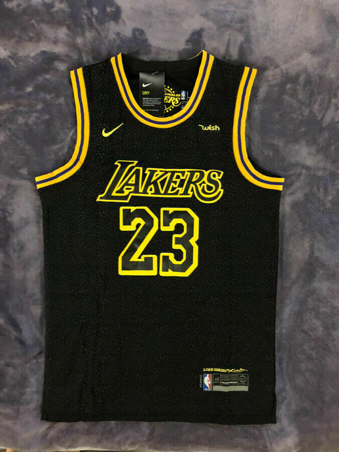 Nwt Lebron James 23 Los Angeles Lakers Men S Black Mamba Basketball Jersey Jerseys For Cheap Los Angeles Lakers Los Angeles Lakers Players Basketball Jersey