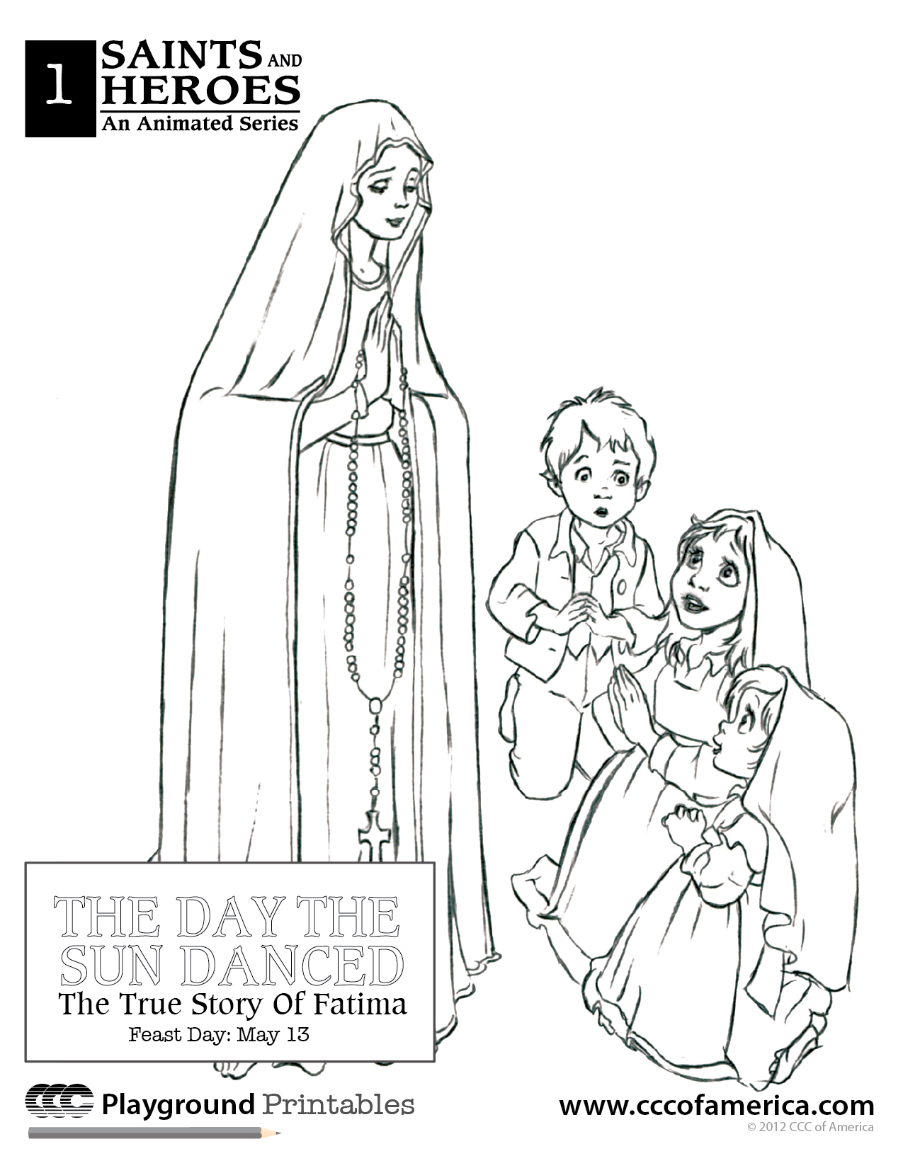 Our Lady Of Fatima Coloring Books