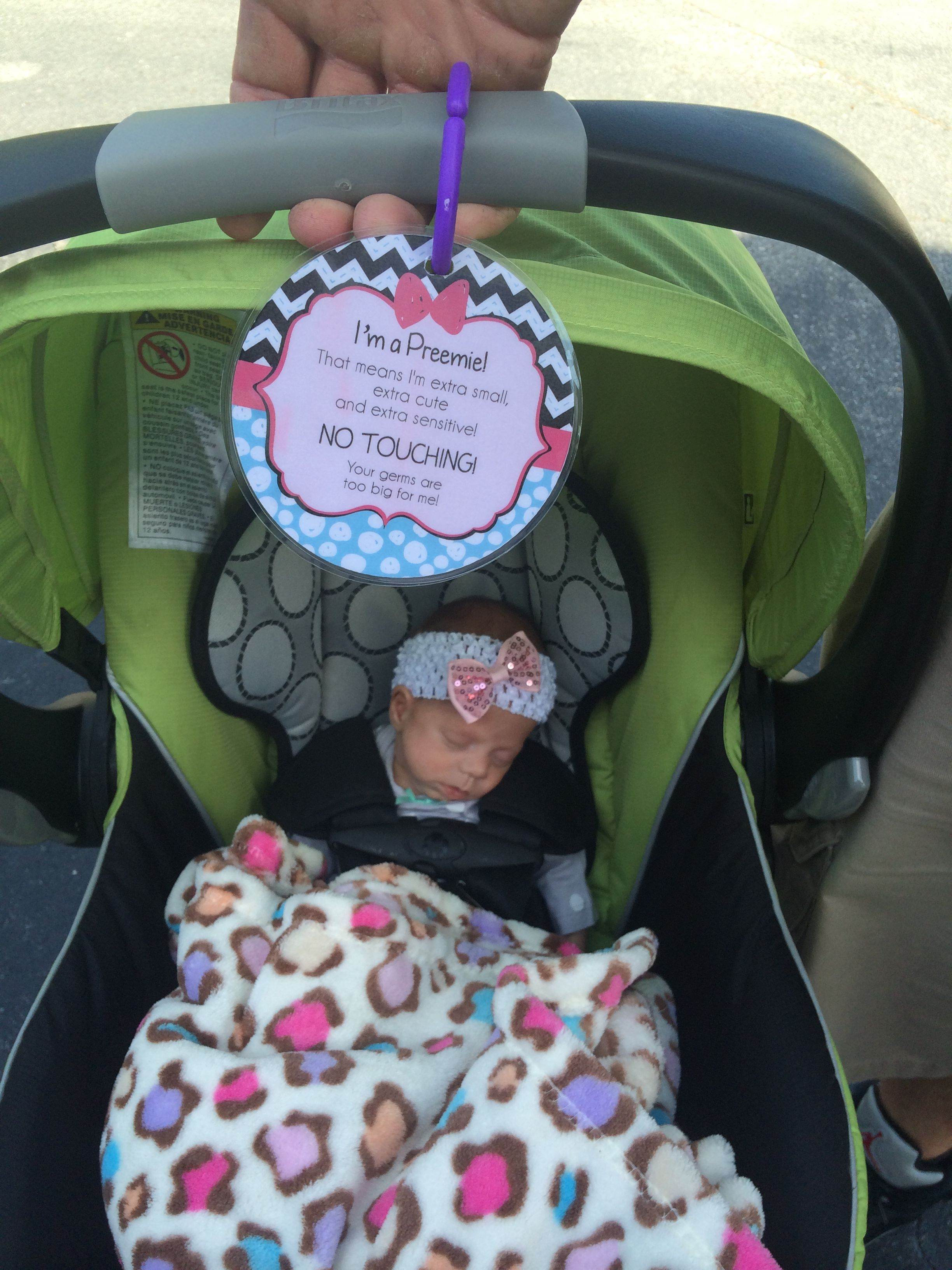 Tags 4 Tots Preemie Or Newborn Sign That You Hang On Your Carseat Stroller To