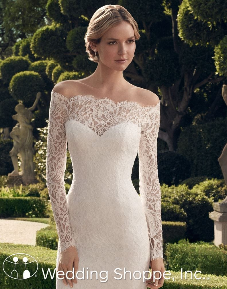 A romantic longsleeve lace knee length wedding dress someday my
