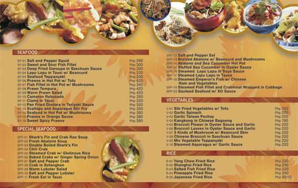 Ideas and examples to make to do a restaurant menu design and
