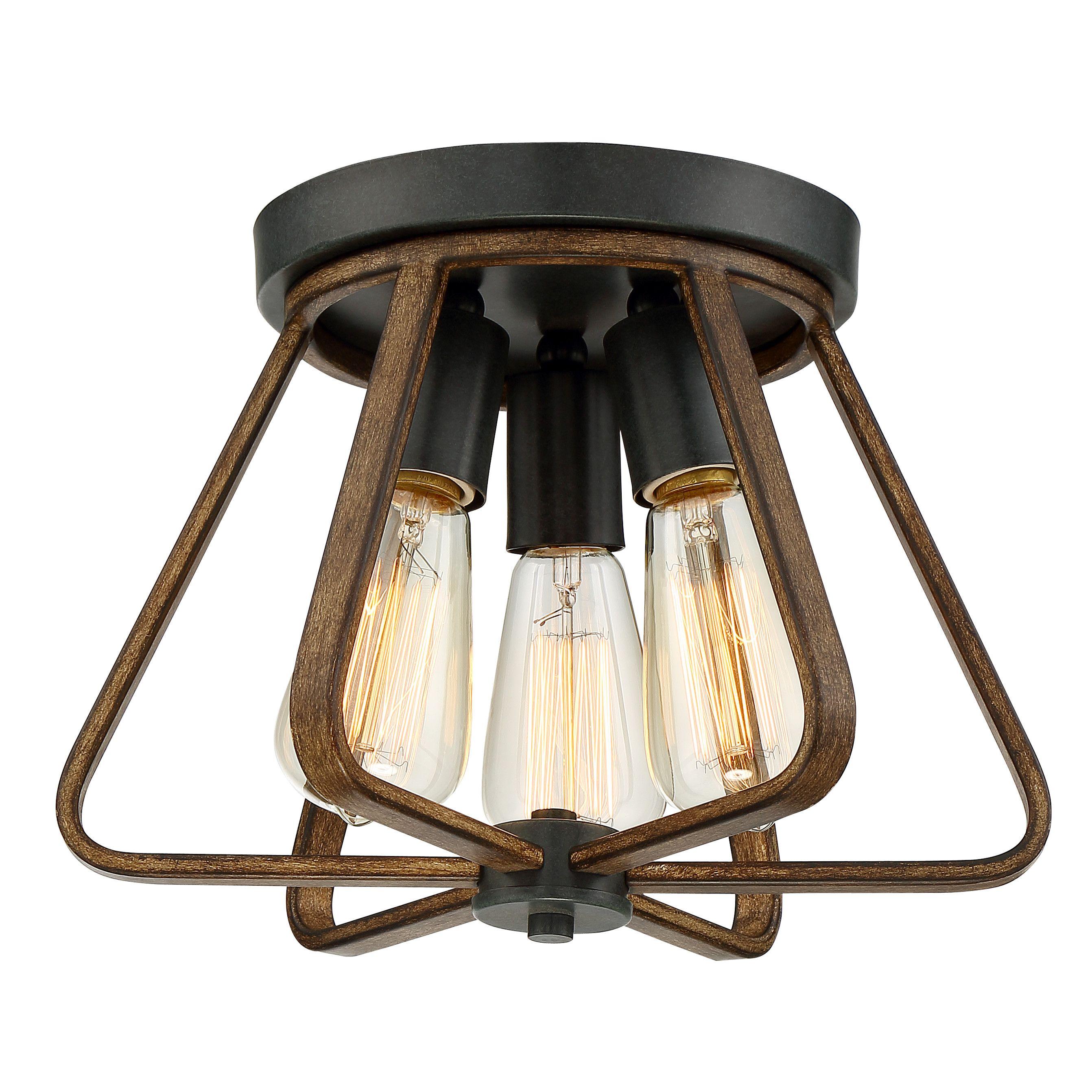 Trent Austin Design Sonia 3 Light Flush Mount Flush Mount Lighting Light Ceiling Lights