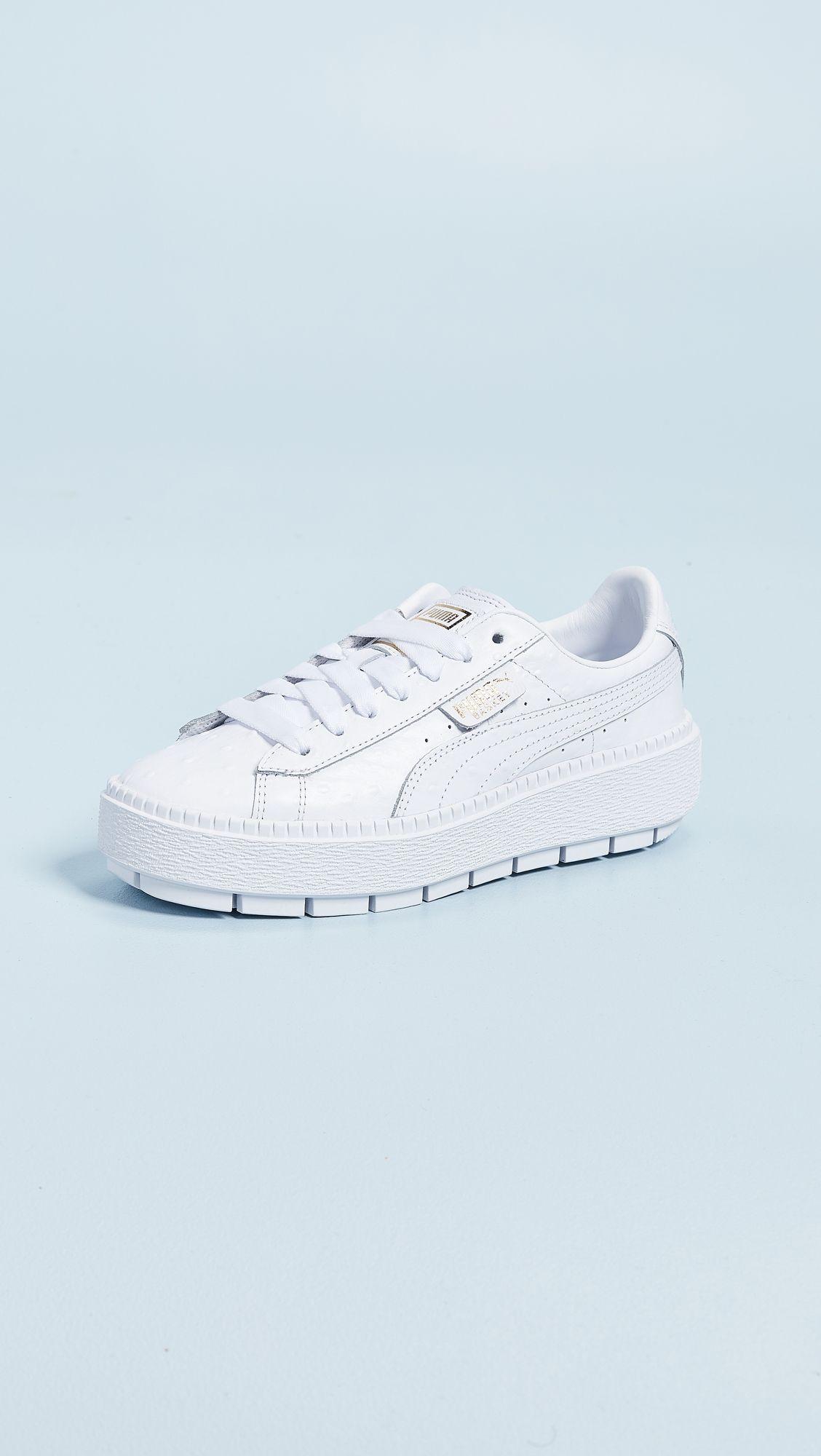 faf0a77da8d PUMA Platform Trace Ostrich Sneakers