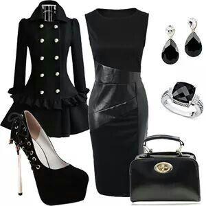 Lindo vestido y abrigo