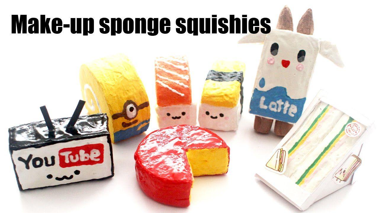 7 Easy Homemade Make Up Sponge Squishies (DIY) Crafts