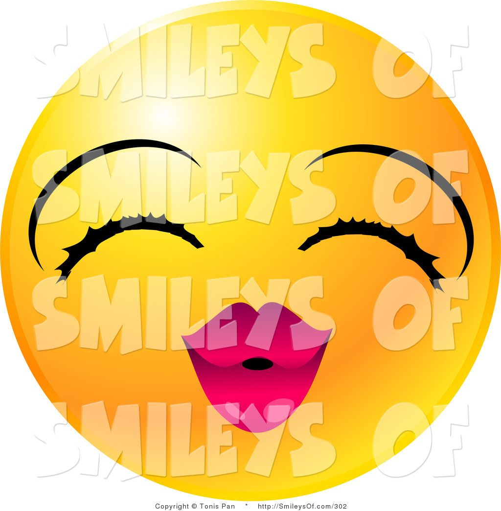 Cute Smiley Faces Vector Of A Cute Yellow Emoticon Face Lady With