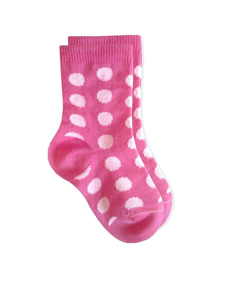 0C68 Klexa Calza neonato pois - baby newborn socks dots