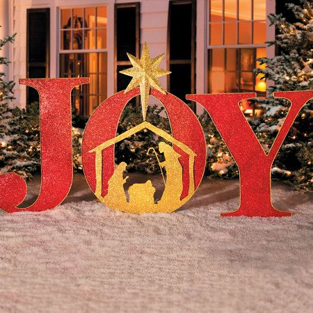 joy metal christmas yard decor home sweet home pinterest christmas yard christmas lights and outdoor christmas