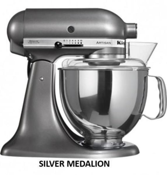KitchenAid KSM175 5 Qt. 4.7 Liters Artisan Stand Mixer 220 Volts Export Only - Medallion Silver