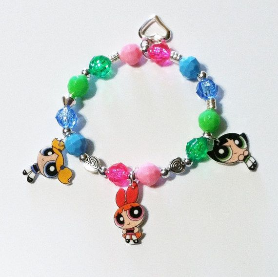 Powerpuff Girls Charm Bracelet Powerpuff Girls By Made4ubysisters2 Superpoderosas Acessorios Meninas Super Poderosas