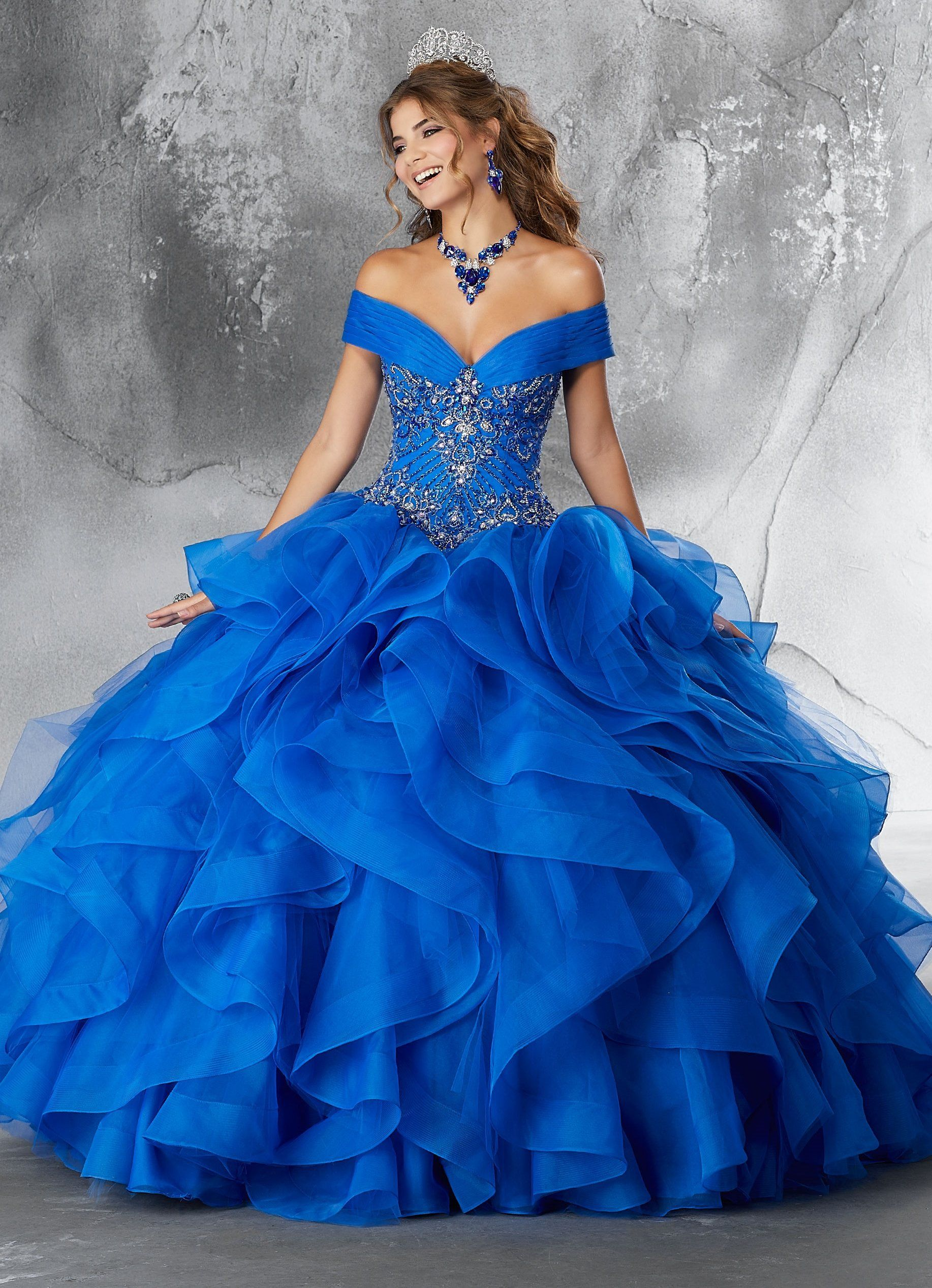 875bba4f633 Off Shoulder Ruffled Quinceanera Dress by Mori Lee Vizcaya 89188 in ...