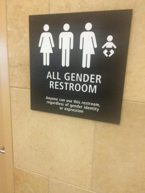 Picture Snapped In Airport Bathroom Is Going Viral Americans Are Outraged All Gender Restroom Bathroom Signage Bumper Stickers