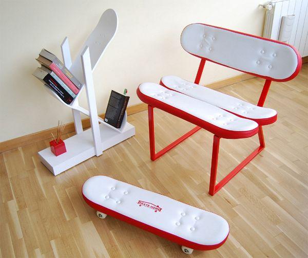 Cool Furniture Design cool skateborad furniture | homemydesign | pinterest | furniture