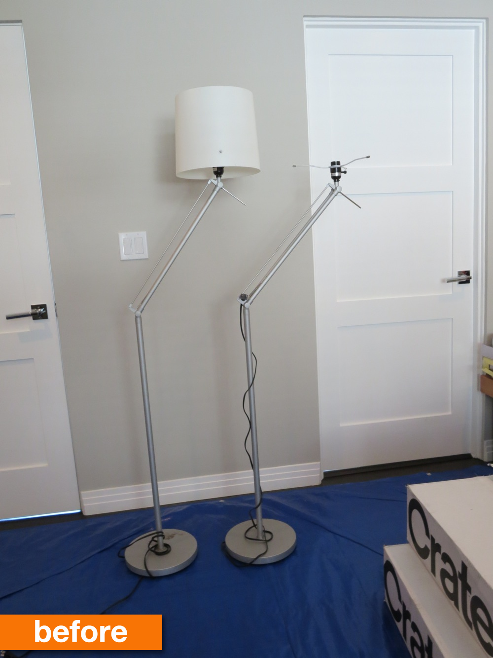 Before After 15 Ikea Hack Turns These Floor Lamps From Drab To Fab Ikea Floor Lamp Floor Lamp Floor Lamp Bedroom