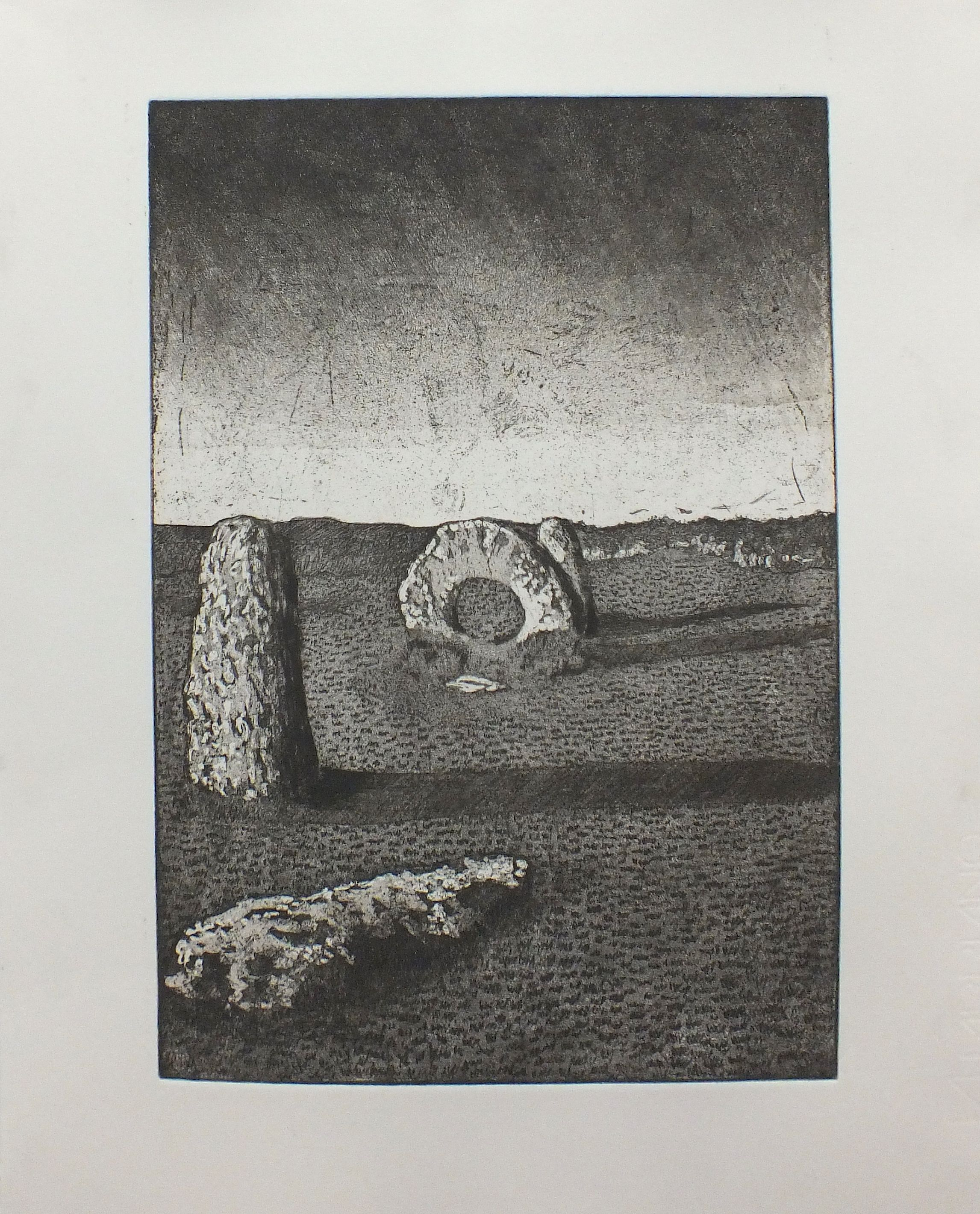 Molly L - Etching - Truro College A Level Fine Art - Coursework Show 2017