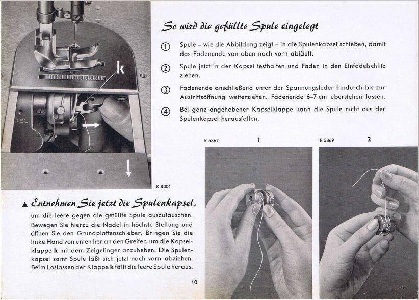 Pfaff 260 Nähmaschine Gebrauchsanleitung Download PDF-File | maszyna ...