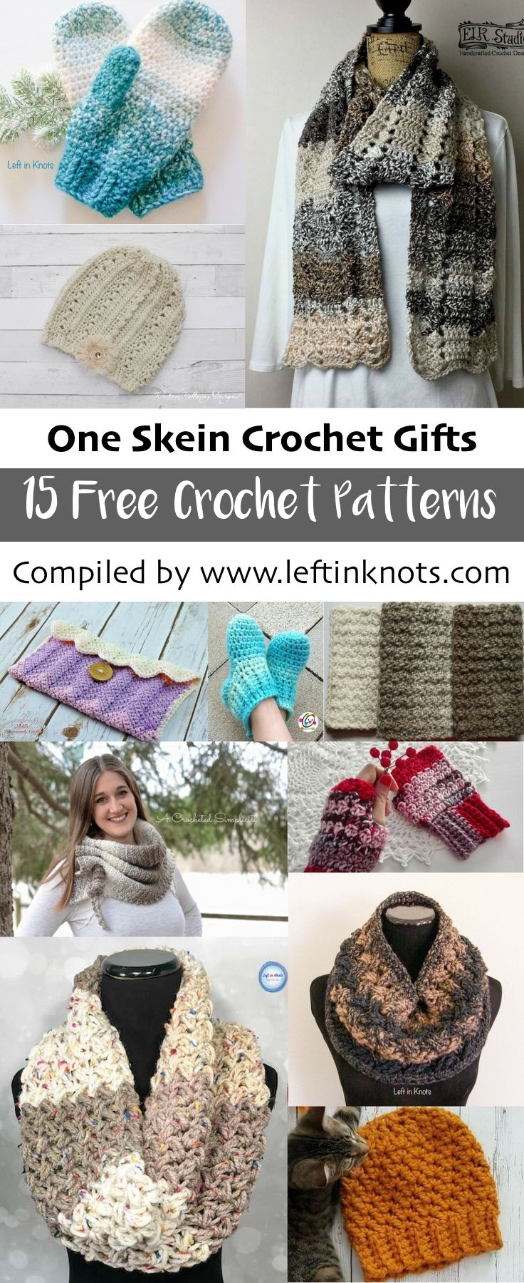 One Skein Crochet Gifts 15 Free Patterns Left In Knots