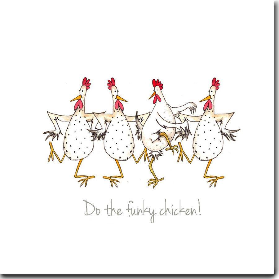 Chicken card do the funky chicken greeting card birthday card do the funky chicken greeting card funny chicken by sarahboddyuk kristyandbryce Gallery