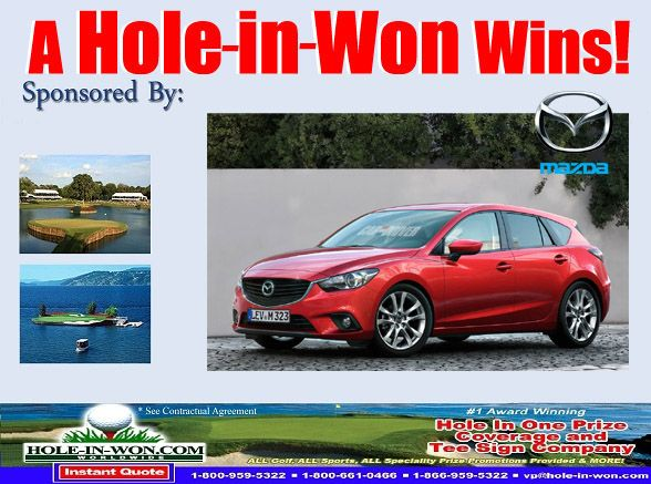 Mazda Hole In One Insurance Mazda Promotions For All Sports Trade