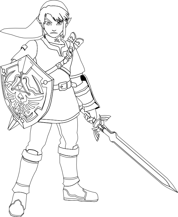 legend of zelda link coloring pages_249273png 609