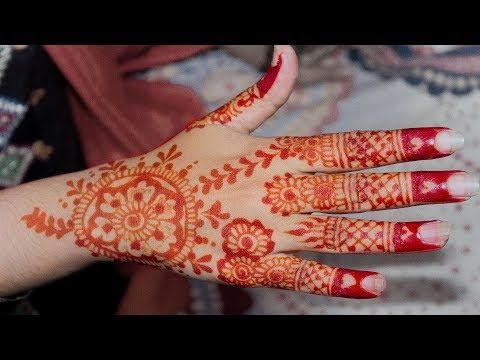 Mehndi Designs Heart : Stylish mehndi design for hands with finger heart style