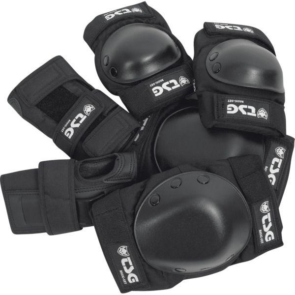 New Tsg Basic Set Black Large Knee Elbow Wrist Combo Skate Pads Now In Stock Skateboard Pads Skateboarding Pads Skates For Sale