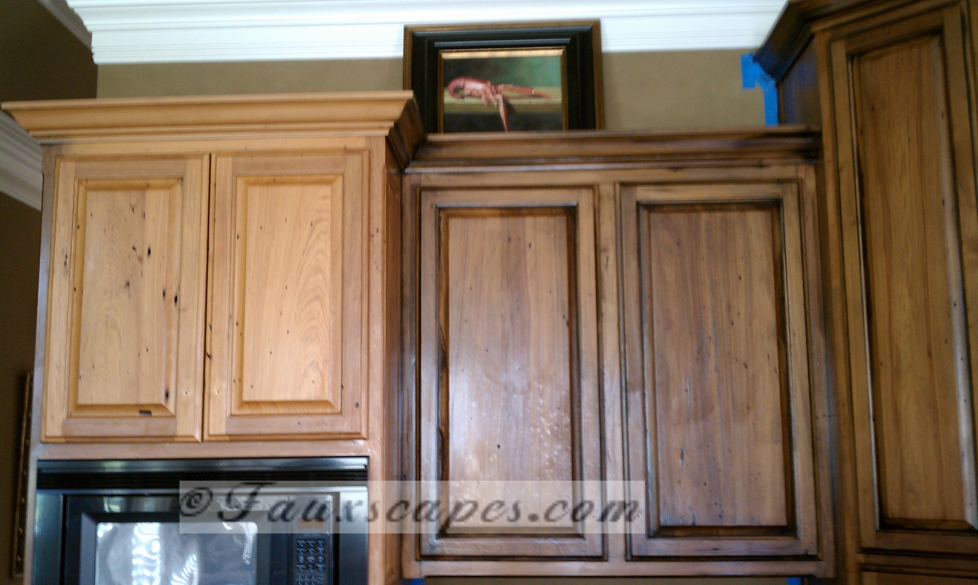 Cypress Before After Restaining Kitchen Cabinets Glazed Kitchen Cabinets Kitchen Cabinets Before And After