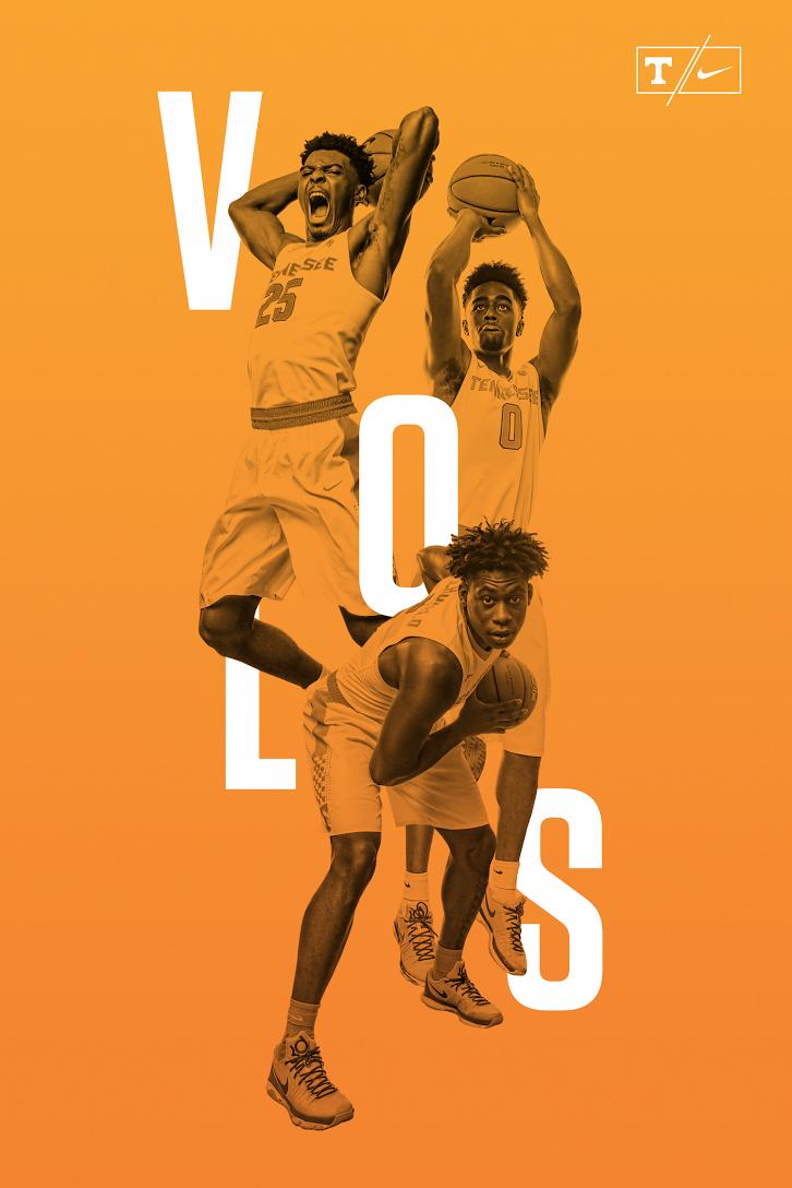 tennessee men s basketball poster design on behance