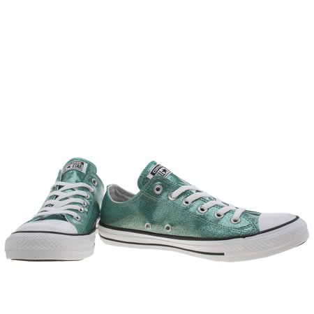 6081896f20a2 womens converse turquoise cons as glitter ox trainers