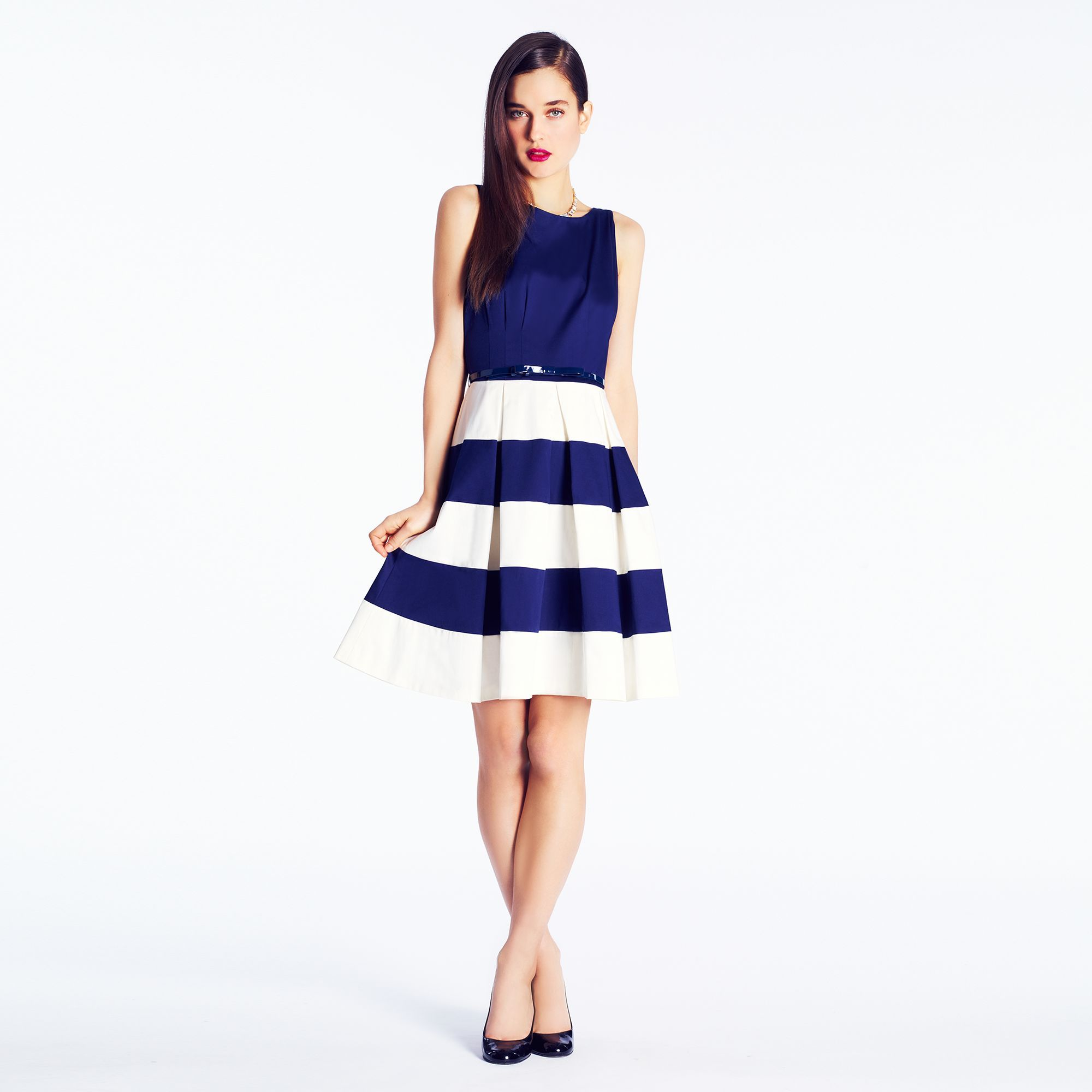 Kate spade celina dress navy blue and white nautical stripes kate spade celina dress navy blue and white nautical stripes nautical bridesmaid ombrellifo Images