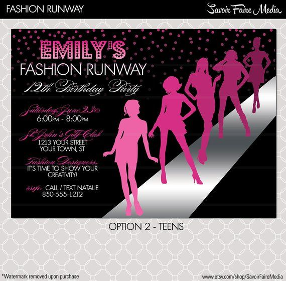 invitation card design for fashion show , Google Search