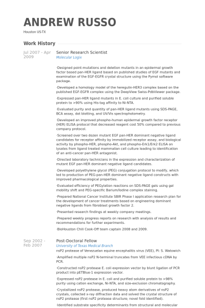 Cv Template Research Scientist Cvtemplate Research Scientist Template Research Scientist Scientist Resume