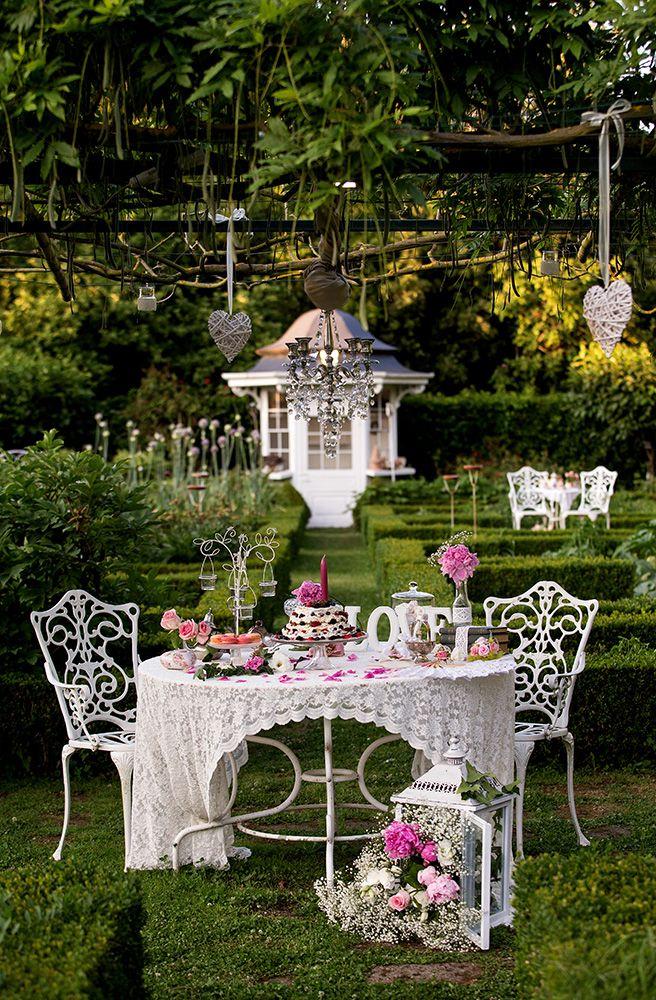 Allestimento Matrimonio Stile Country Chic : Bellissimo allestimento tavolo in perfetto stile shabby chic in
