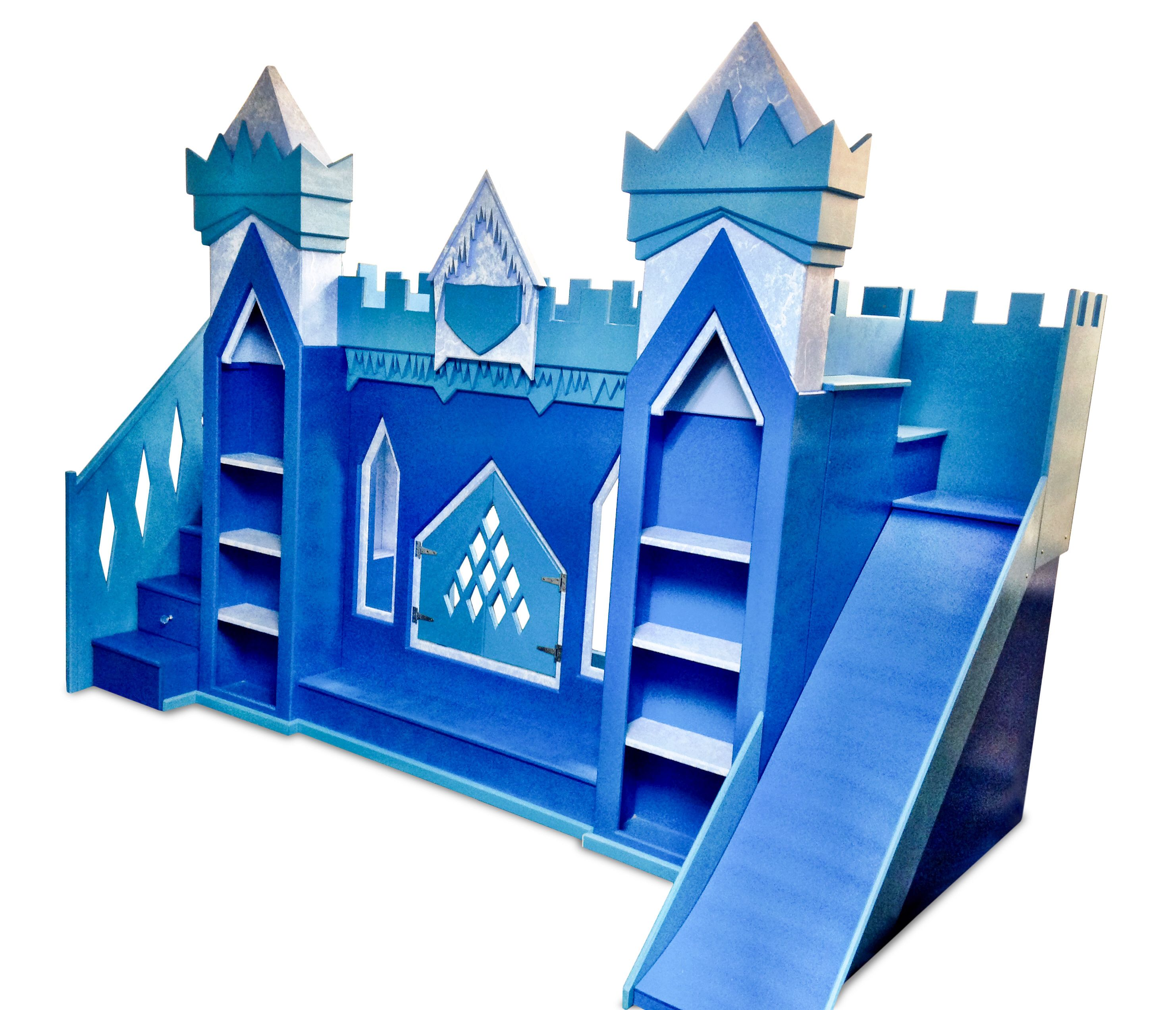 The original frozen inspired elsa ice castle bunk bed This