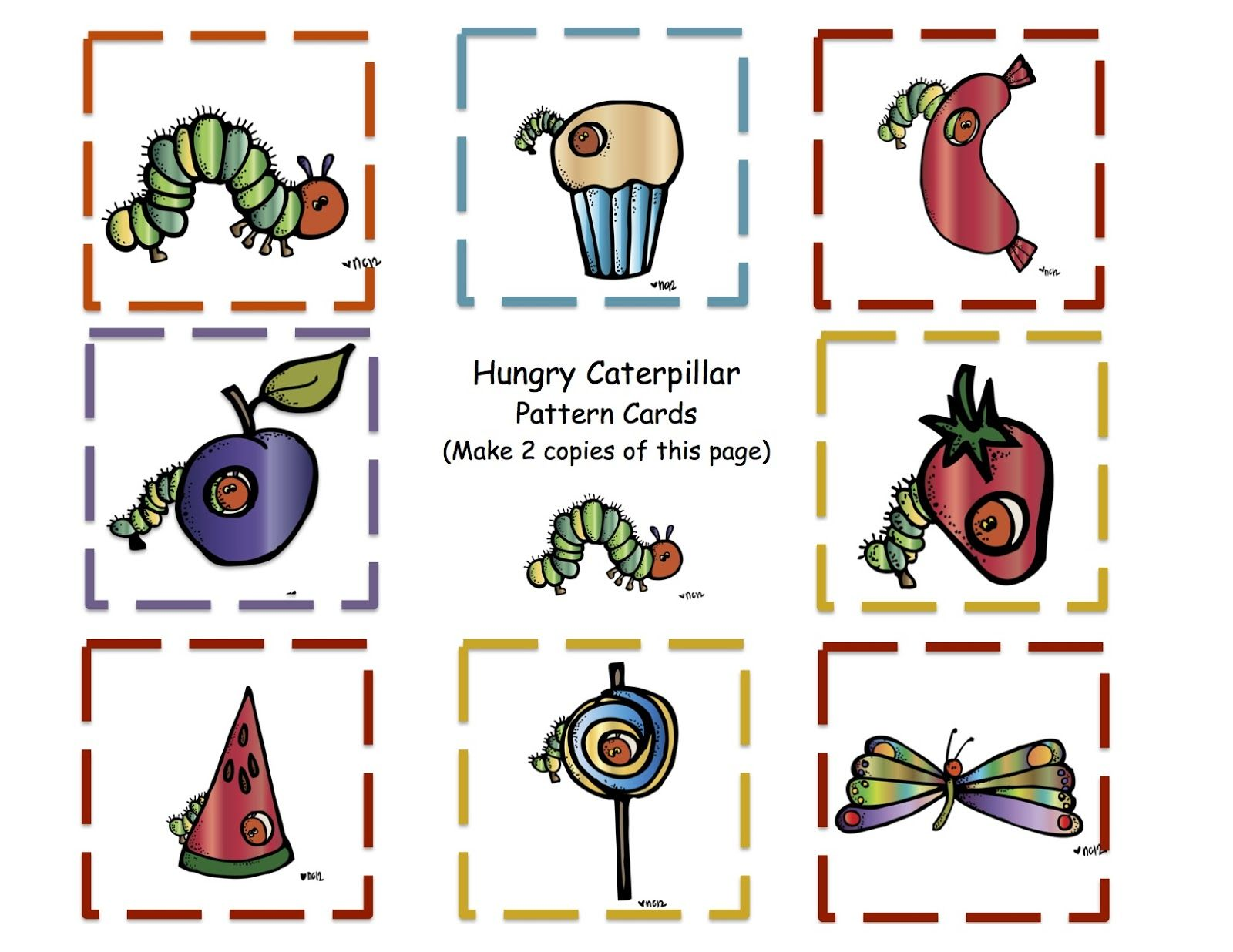 The Very Hungry Caterpillar Freebie Stick Puppets And