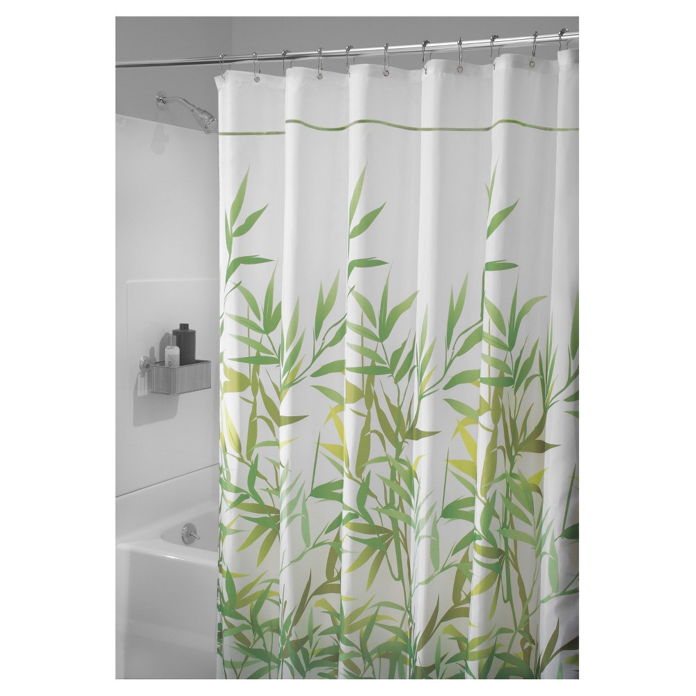 The Interdesign Anzu Shower Curtain Features A Leafy Bamboo Print That Will Add Tranquility To Your Bathroom Made Of 100 Percent Polyester Fabric This
