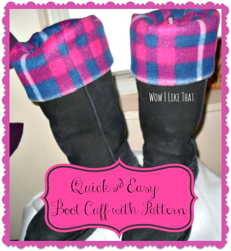 Make Your Own Boot Cuff Quick Easy Inexpensive To Make Your Own