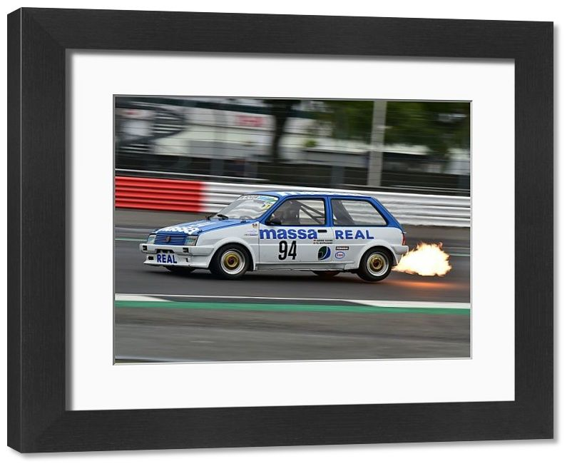 Framed Print-CM29 2863 Till Bechtolsheimer, MG Metro Turbo-58×48 cm frame with high quality RA4 print made In Australia