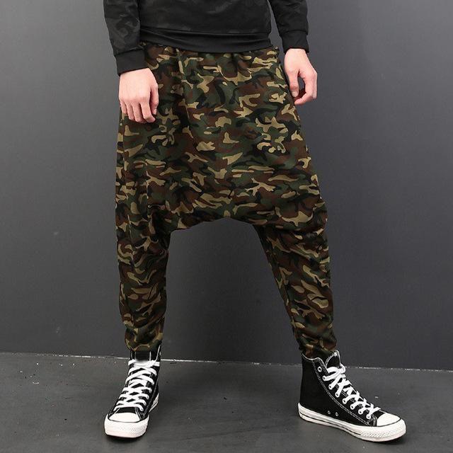 54df033ce0a INCERUN Camo Plus Size 5XL Harem Pants Men Cross Big Drop Trousers Hiphop  Joggers Sweatpants Baggy