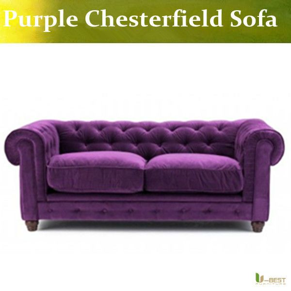 Purple Velvet Chesterfield Sofa Two Seat Buy Velvet