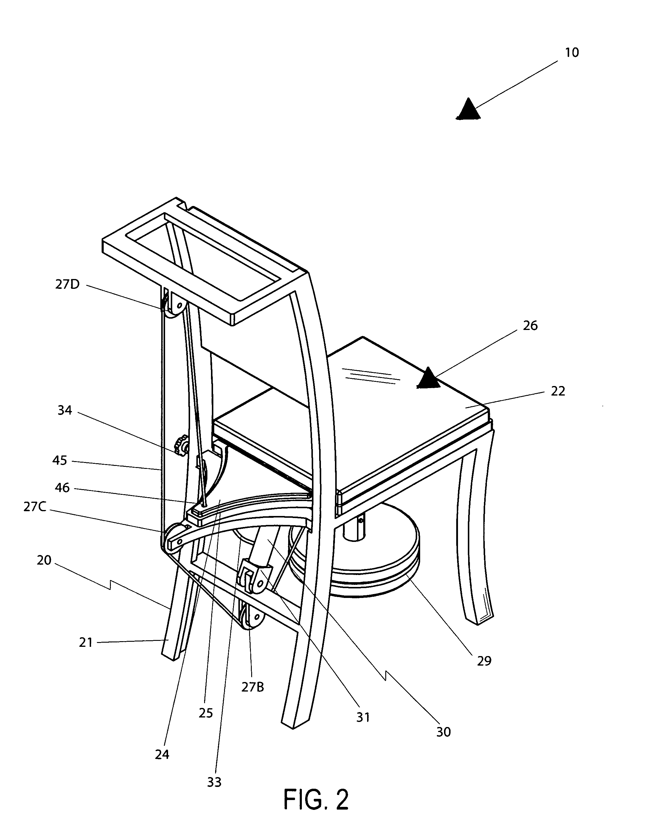 Patent US7434882 - Combination ergonomic chair and seat pivoting ...