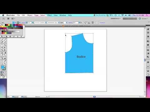 How To Use Adobe Illustrator To Create Sewing Patterns Basic