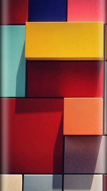 Colorful Abstract Blocks Wallpaper