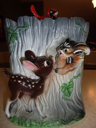 Vintage Bambi Enesco Cookie Jar Fair Condition | eBay