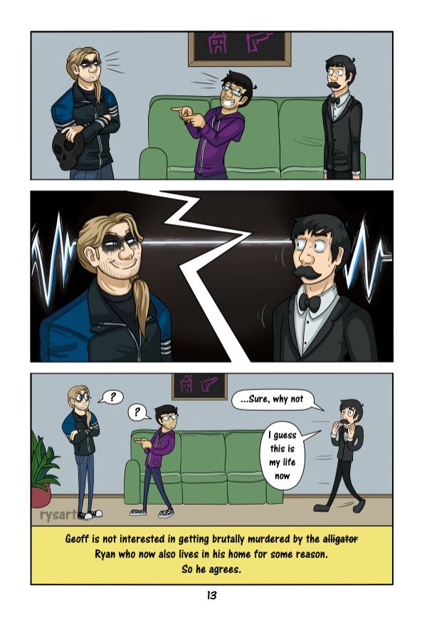 How the Fake AH Crew was formed part 13 | Rooster Teeth ... Achievement Hunter Comic Poster