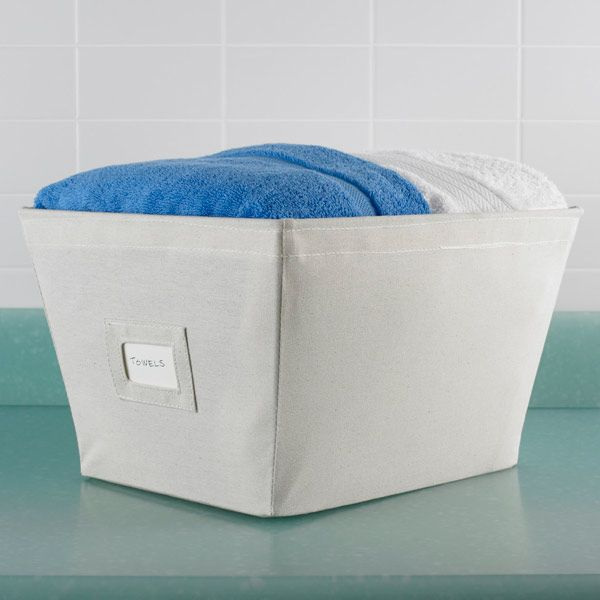 Keep Towels, Sweaters And Handbags Contained In These Bins. Covered In  Natural Cotton Canvas, Theyu0027re As Good Looking As They Are Functional.