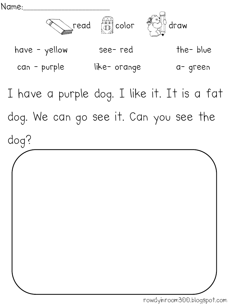 worksheet Kindergarten Reading Comprehension sight words in a sentence most kids know their but hmmm lets change the directions write sentences chinese and have them draw to demonstrate reading comprehension examapl